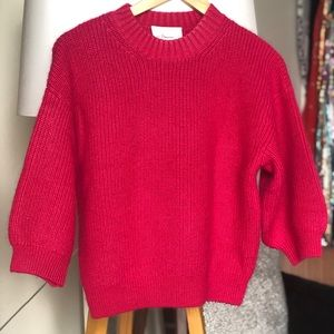 Phillip Lim FUSCHIA balloon sleeve soft sweater